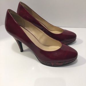 Enzo Angiolini high heels women's size 8M red